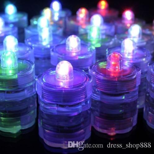 Aquarium Lichtgevende Kaars Licht Waterdichte Led Dive Light Aquarium Decoratieve Circulaire Compacte Waterdichte Lichten Onderwaterlichten