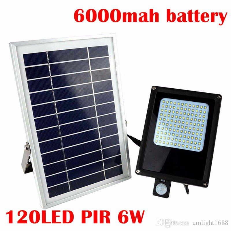 Umlight1688 120 LEDs 3528 SMD LED Solar Light 6V 6W Solar Panel Motion Sensor LED Floodlight for Indoor & Outdoor