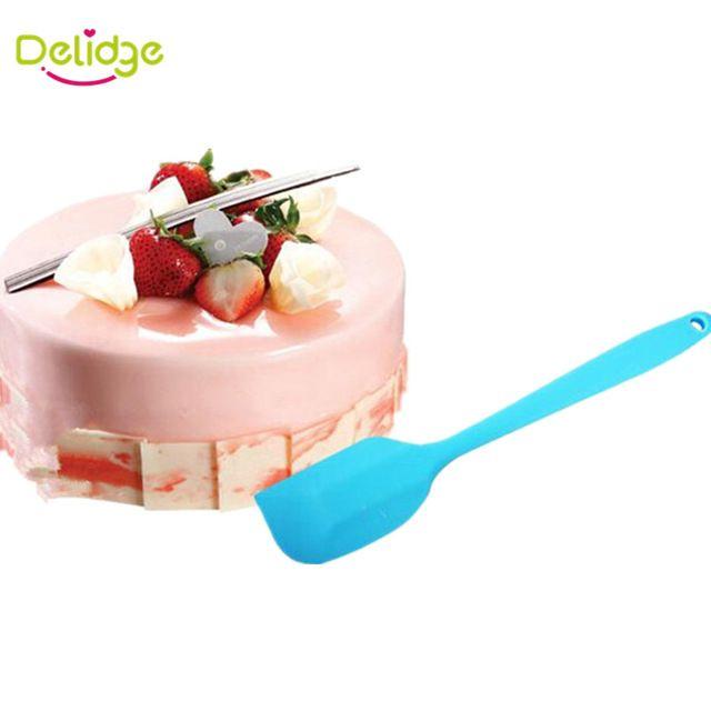 Delidge pc Colorful Batter Spatula Silicone Cake Cream Mixer Baking Scraper Long Handled Can Be Hung Bakeware Spatulas