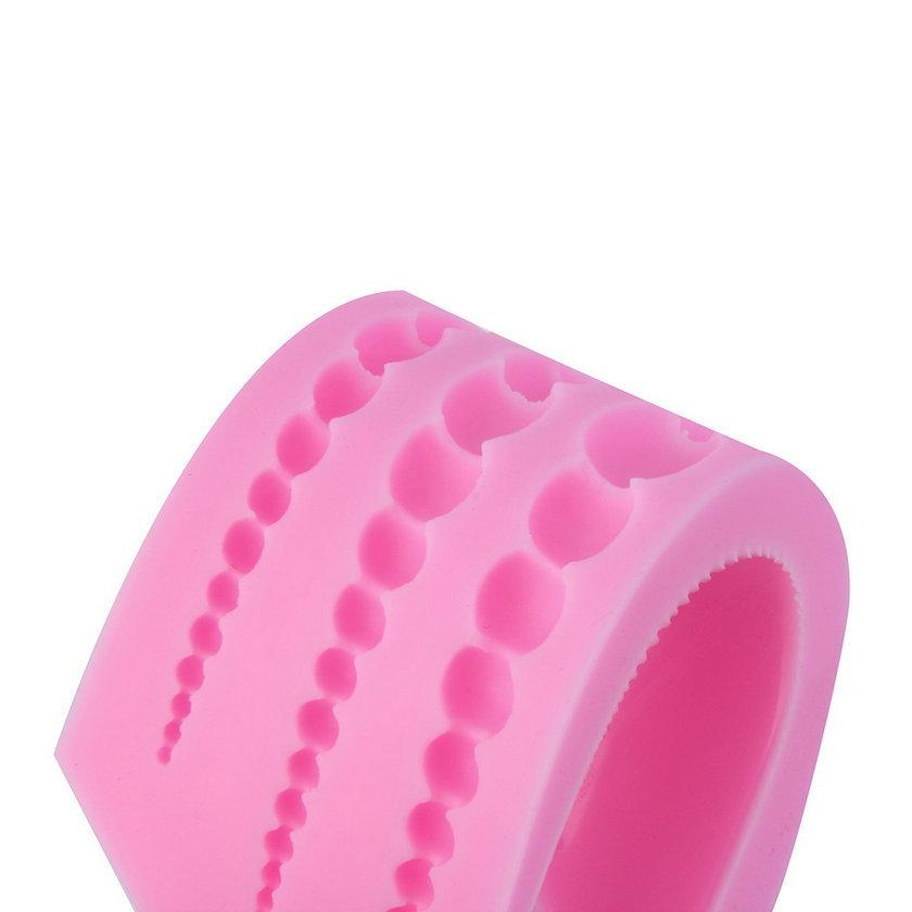 3 Tamaño PREUP 3D Perlas Redondas En Forma de Pastel de Galleta de Silicona Fondant Galleta Dulces Decoración de Chocolate Para Hornear Molde Regalo de Navidad