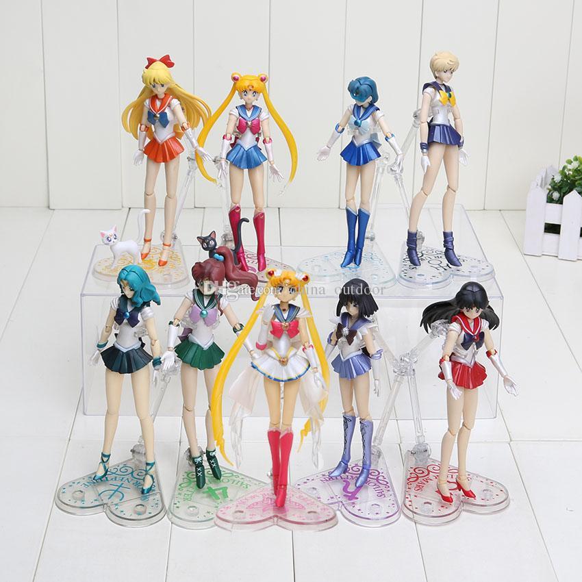 Nouvelle arrivée Anime Sailor Moon PVC Figurine Toy Les 9styles peuvent choisir