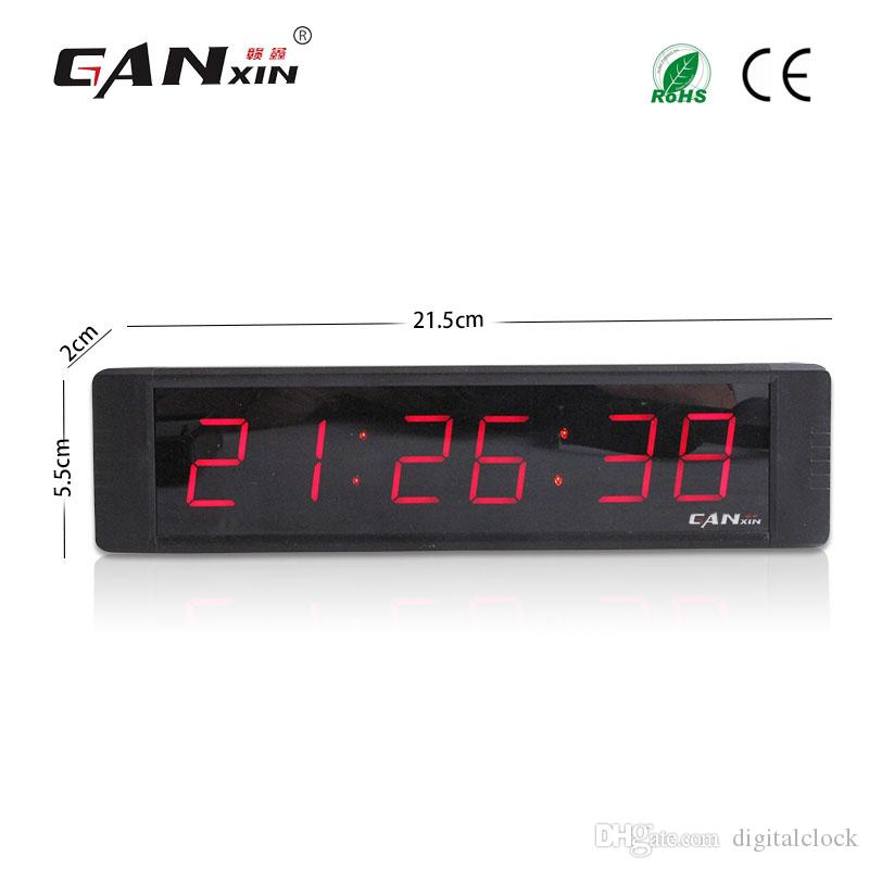 """[Ganxin] 1"""" Display 6 Digit High Quality Led Clock with Red Screen Portable Led Digital Wall Clock with Remote Control Countdown Wholesale"""