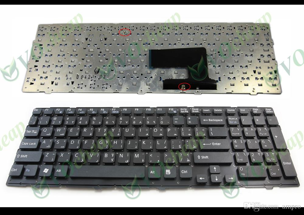New Arabic Notebook Laptop keyboard for Sony Vaio VPC-EE EE VPCEE Series Black without Frame AR AB Version - V116646A Version: Arabic (AR)
