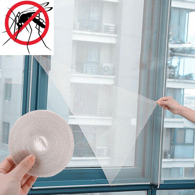 blanc filet anti mouches//insectes//moustiques Kit de moustiquaire pour fen/êtres