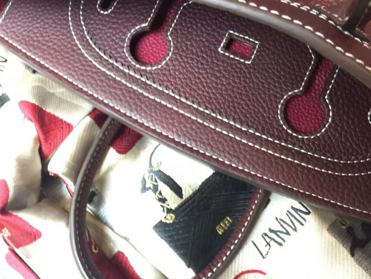 2016 Luxury H Handbag Women\`s Litchi Cowhide Messenger Bag Genuine Leather Famous Designer Shoulder Crossbody Totes Ladies Bolsa (33)