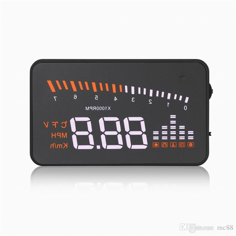 """X5 Car HUD 3"""" Universal Multi-function Vehicle-mounted Heads up Display for Cars Windshield Compatible with OBD II EOBD System Model cars"""