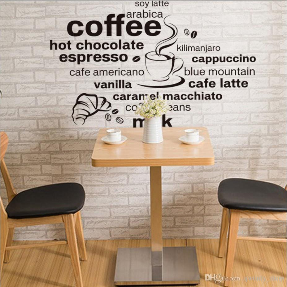 2017 new design simple and stylish english coffee pattern home