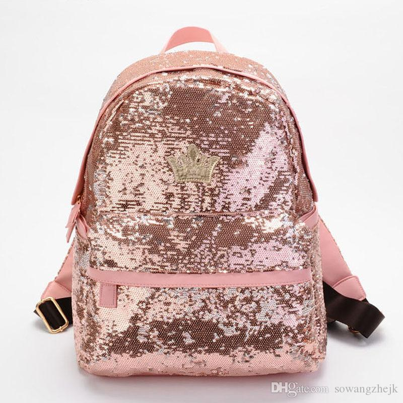 الجملة-2017 إمرأة أزياء لطيف الفتيات الترتر حقيبة براق الترفيه bookbags المدرسية شحن مجاني أعلى جودة