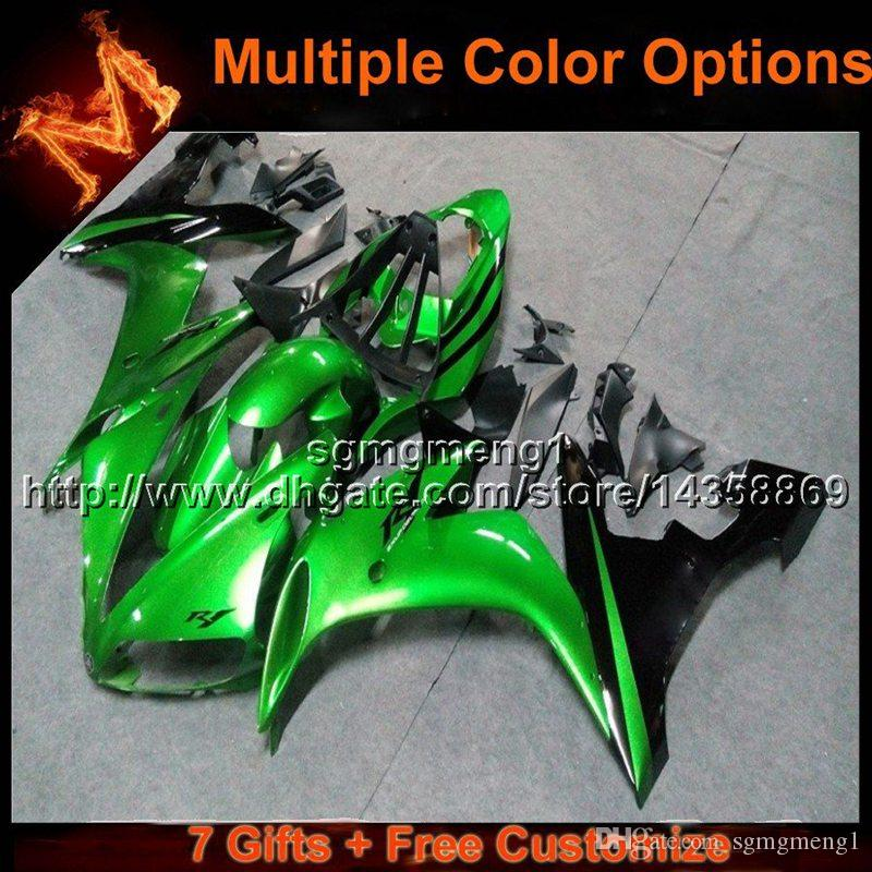 23colors+8Gifts GREEN YZF R1 04 05 06 motorcycle fairing For Yamaha YZF 1000 YZF-R1 06 05 04 YZFR1 2004 2005 2006 ABS plastic motor panels