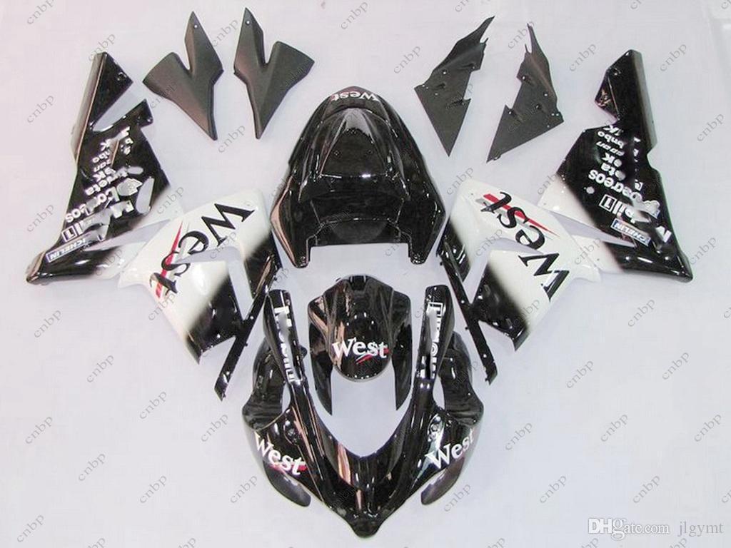 Fairing Kits for Kawasaki Zx10r 04 Body Kits Zx 10r 2005 Black WEST Plastic Fairings Zx10r 2004 2004 - 2005