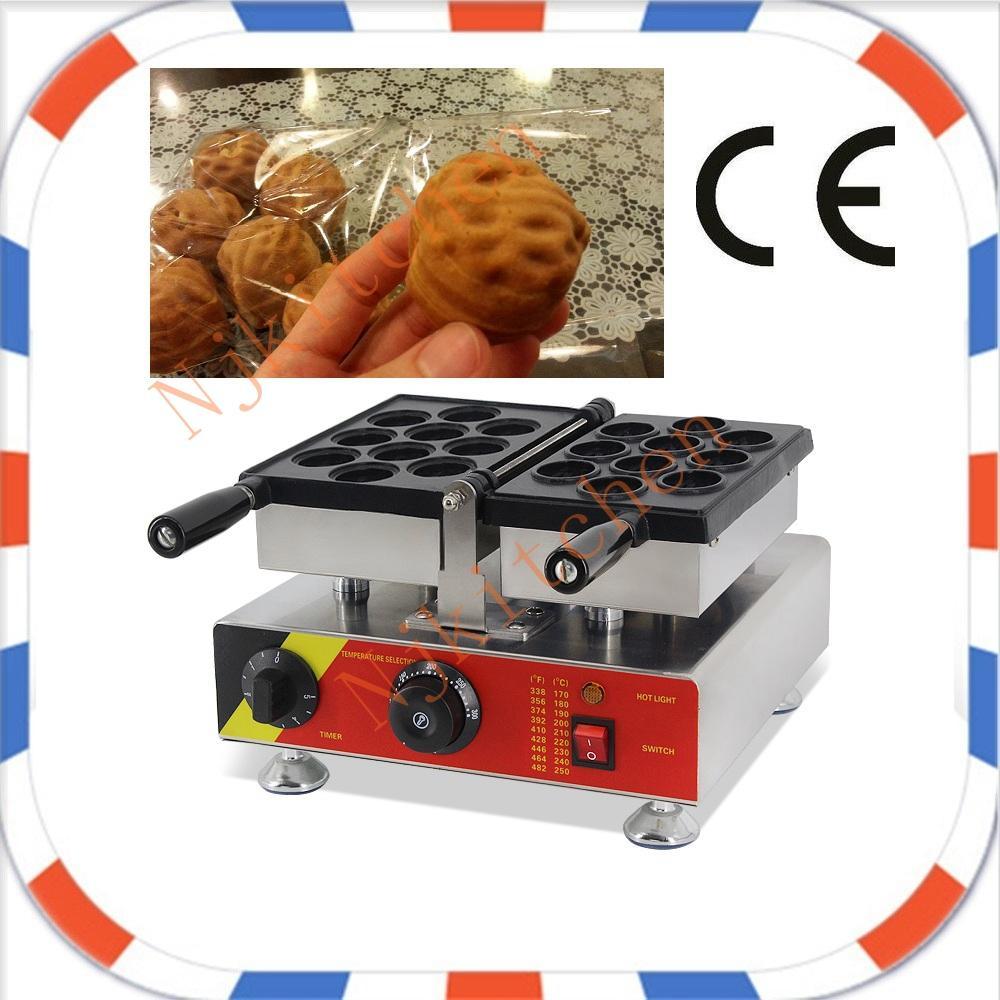 Frete Grátis Comercial 110 v 220 v Sul Coreano Noz Bolo Waffle Máquina De Fazer Baker Placa de Ferro com Certificação CE