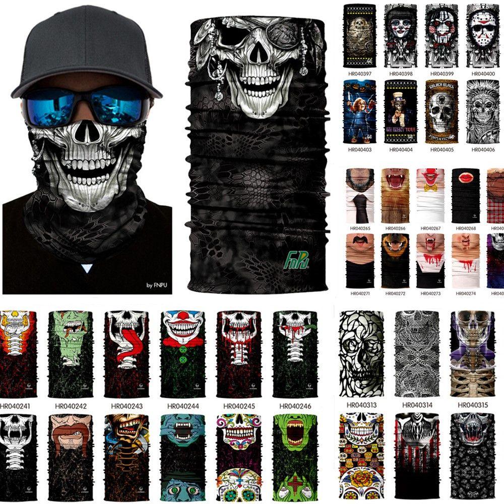 Crânio Design Multi Função Máscaras Bandana esporte esqui Motociclista Scarf cara externas Máscara Facial Headband Neck Gaiter