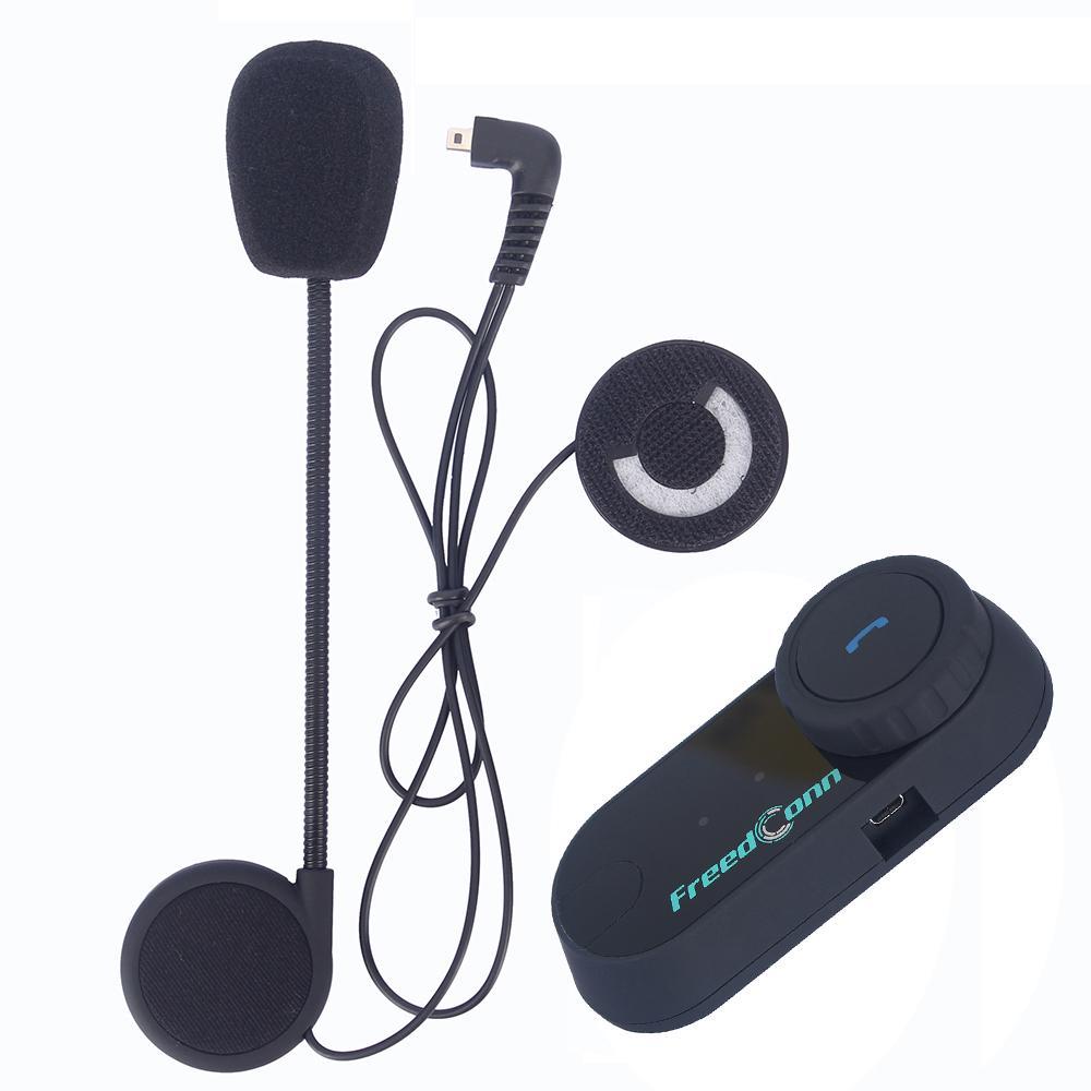 FreedConn 1 pcs BT Bluetooth Motorcycle Casque Interphone Système sans fil Interphone 800m 2 coureurs Casque d'interphone avec radio FM