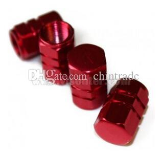 Universal Tire Wheel Valve Caps Aluminum Alloy Valve Air Dust Covers Styling Round Blue Silver Gold Red For Car Bike