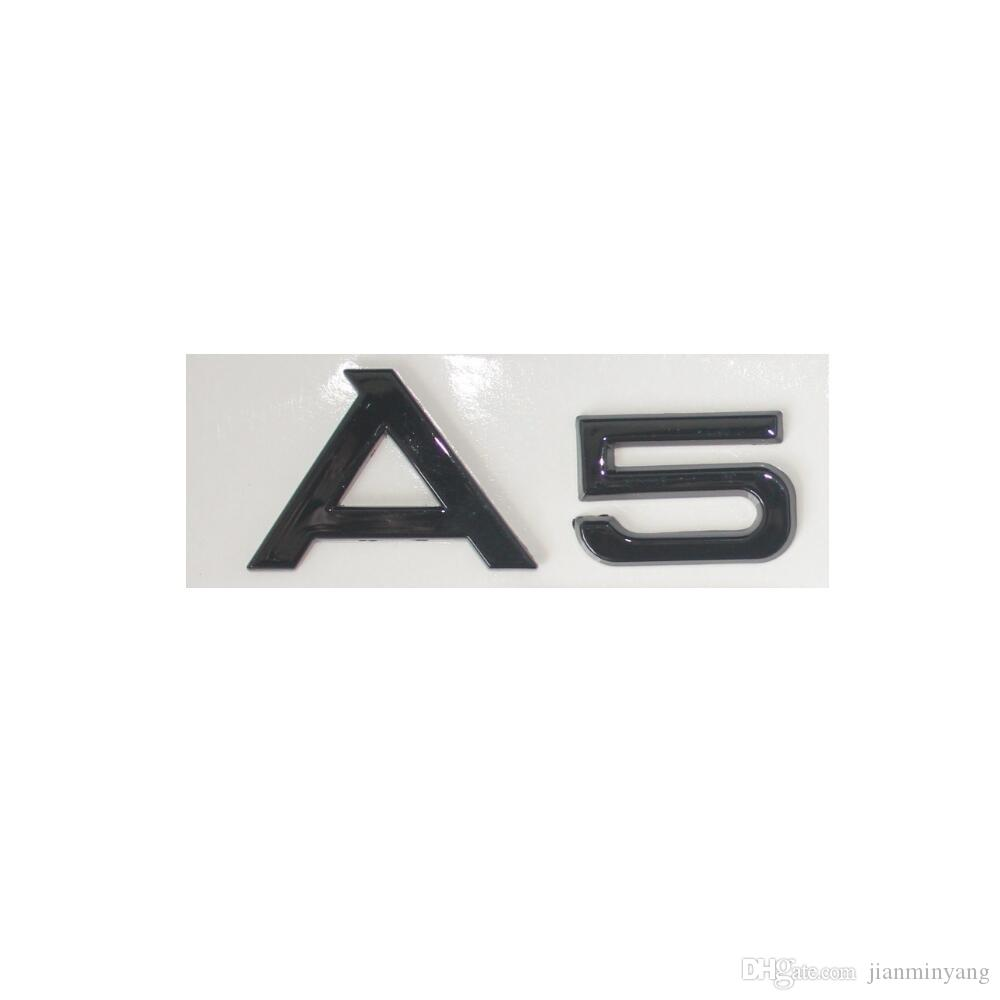 "Gloss Black /"" A 5 /"" Trunk Rear Letters Words Badge Emblem Sticker for Audi A5"
