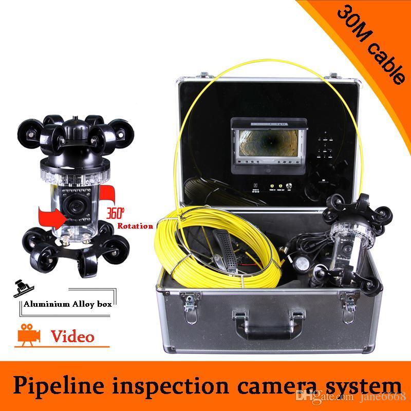 (1 مجموعة) 30 متر كابل التنظير الصناعي تحت الماء نظام الفيديو نظام الأنابيب التفتيش الجدار المجاري كاميرا dvr للماء hd 700TVL