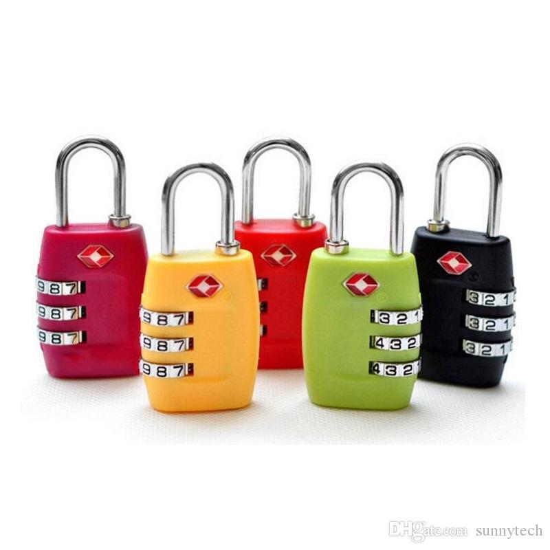 TSA الأمتعة حزام أقفال 3 أرقام سبائك البلاستيك قفل كلمة الجمارك حقيبة قفل الجمع حقيبة سفر قفل resettable ZA1417