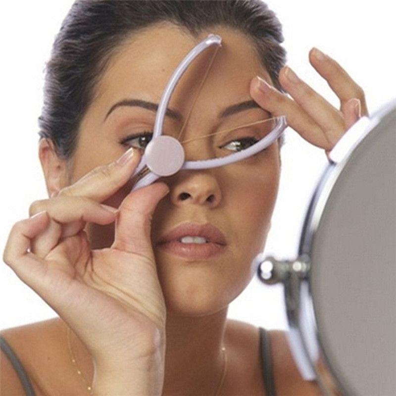 Slique دليل خيوط الوجه إزالة مزيل الشعر نزع الشعر slique جهاز hairclipper حلاقة شعر الوجه الجمال أداة الإناث الانتهازي h0165