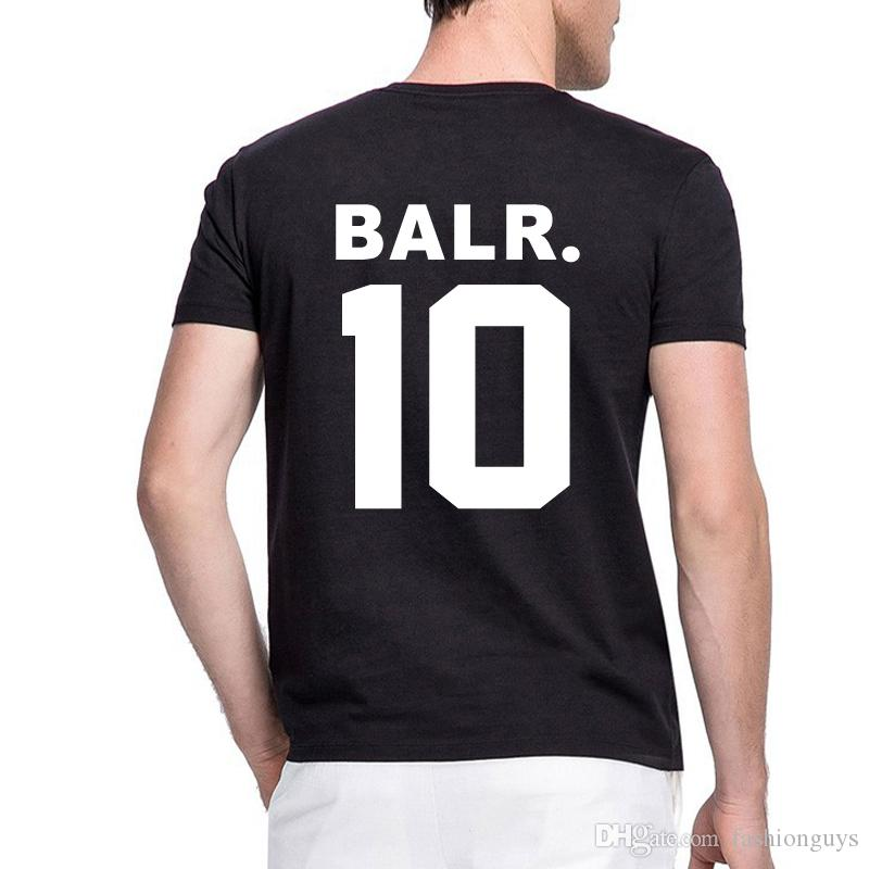 superior quality official site limpid in sight 2017 Men T Shirt Balr. Tee Mans Shirt Homme Cotton BALR 10 Tops Letter  Printing Brand Clothing Breathable Tshirt S XXXL T Shirt High Quality ...