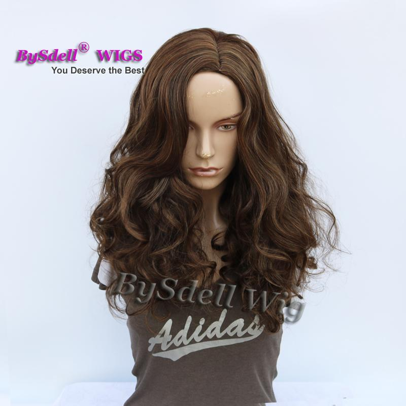 Newest Cheap Synthetic Wig Medium Length Loose Curly Mixed Coffee Brown Color Cheap Wigs For African American Black White Women From Tthouse2 22 91 Dhgate Com
