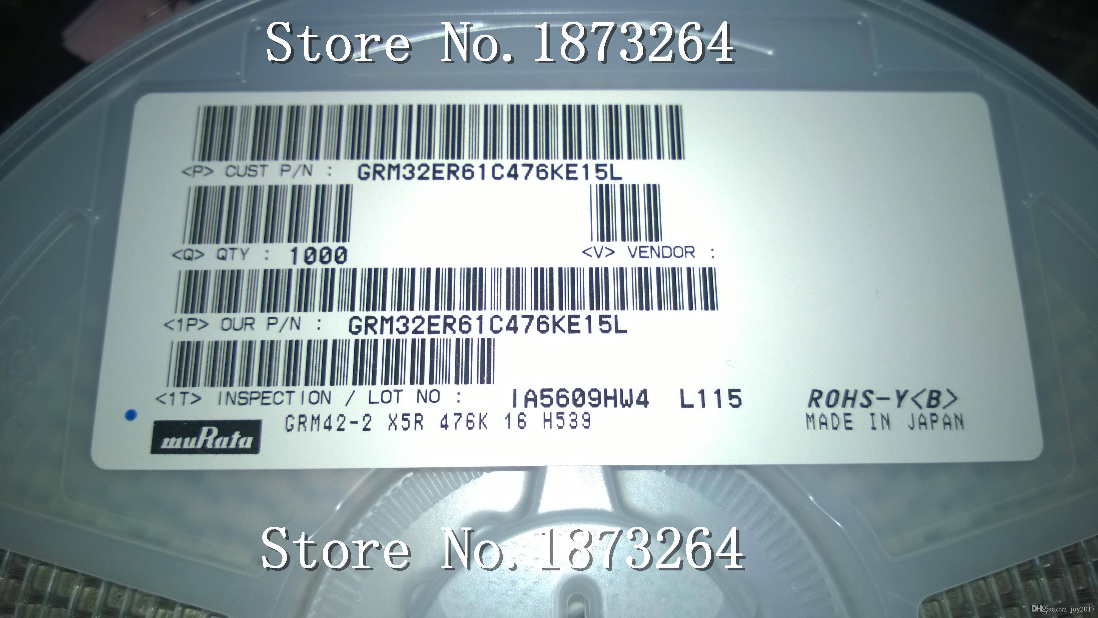 1000 قطعة / الوحدة كاب سير 47 فائق التوهج 16 فولت x5r 1210 47 فائق التوهج 16 فولت 1210 476 16 فولت 10٪ جديدة ومبتكرة في المخزون GRM32ER61C476KE15L