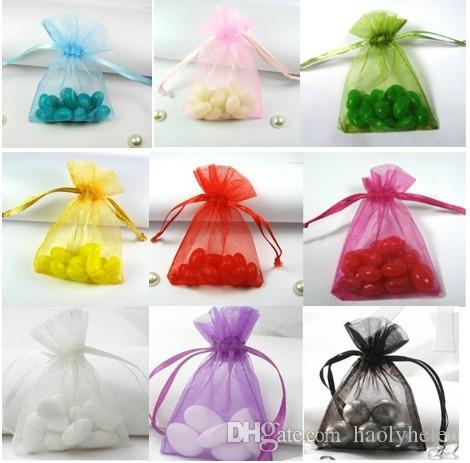 Wholesale 3000 Pieces 13x18 cm Multi Colour Premium Organza Wedding Party Favor Bags Jewellery Gift Pouches Fast Free Shipping