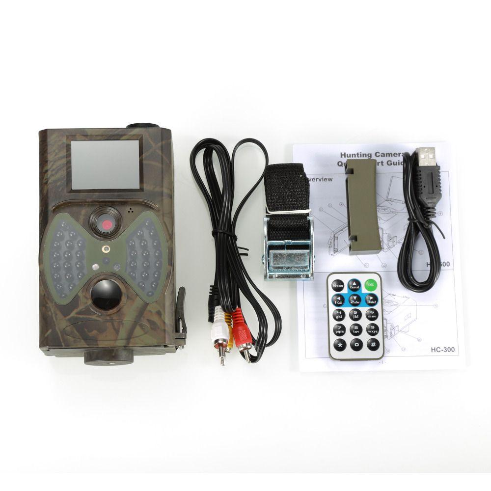 도매 야외 선텍 HC300 HC-300A 스카우트 사냥 카메라 12MP HD 940NM 적외선 야생 동물 나이트 비전 IR 트레일 캠