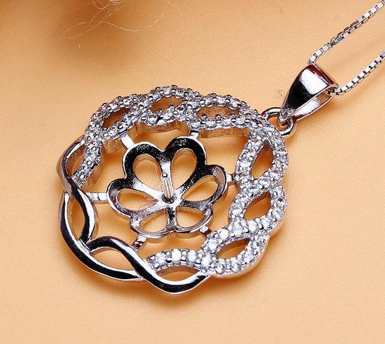 Heißer Verkaufs-eingelegter Zirkon natürliche Perlen-hängende Halsketten-Großhandelszusatz DZ0193