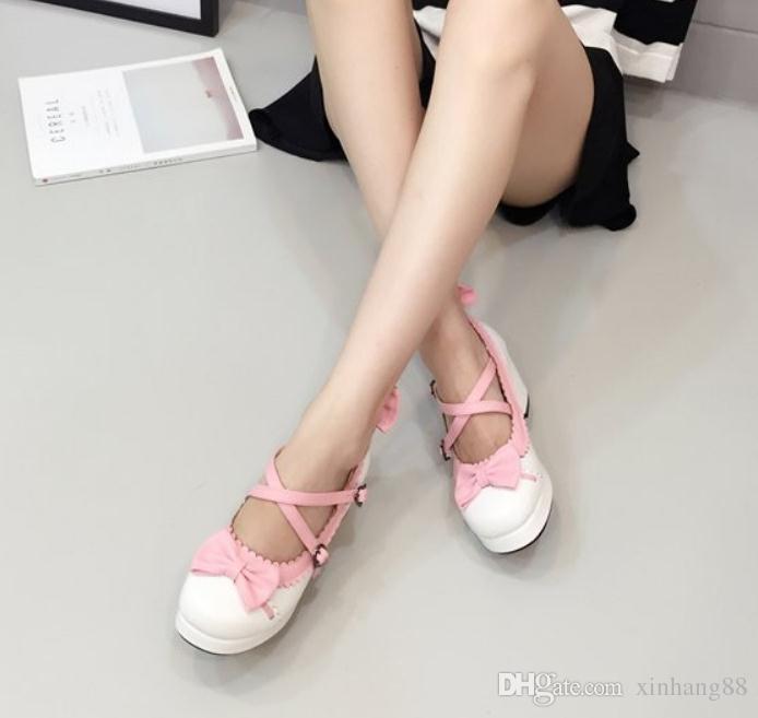 Ilmek tatlı prenses kadın çapraz kayış ayakkabı ile yüksektir
