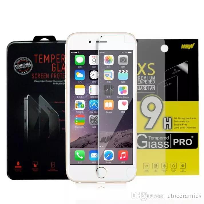 Para Iphone 7 Plus Iphone 6S Plus 5S Galaxy S7 Protector de pantalla a prueba de explosiones de vidrio templado para iPhone 6 Plus 4 4s 5 5s 5c DHL gratis
