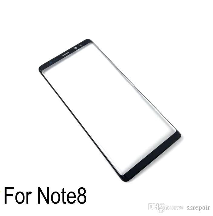 """1pcs For samsung galaxy Note 8 Front Outer Screen Glass Lens Repair For Samsung Galaxy Note 8 6.32"""" N950F mobile phone cover plate"""