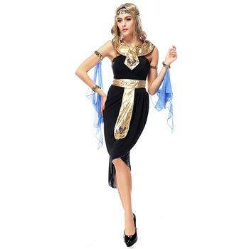 5pcs Adult Women Egyptian Goddess Costume Elegant Halloween Costumes for women Deguisement Adultes Arabian Queen Dance Clothes