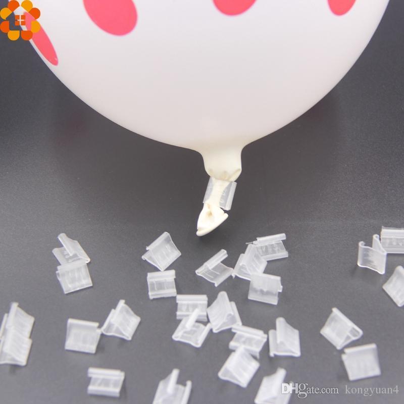 """1000 Pçs / lote Útil """"V"""" Forma / """"H"""" FormaBalões de Vedação Clipe Ballon Botões Clipes de Casamento / Aniversário / Decoração de Festa de Natal Suprimentos"""