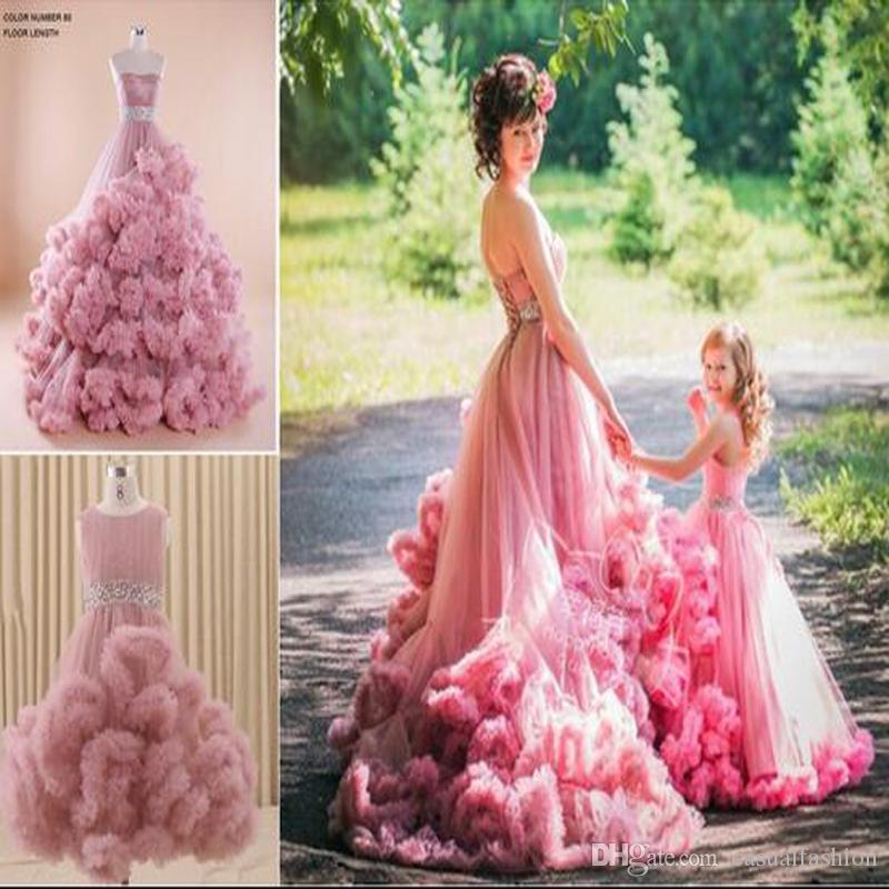 플라워 걸스 드레스 러블리 걸스 미스 데미 드레스 웨딩 드레스 핑크 번짐 드레스 정장 성찬식