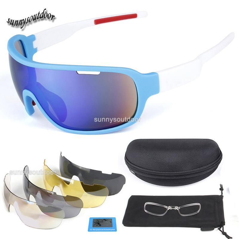 Açık Spor Gözlük Moda Bisiklet Güneş Gözlüğü Taktik Lens Değiştirilebilir Sunglass Beş Lens ile Moda Bisiklet Spor Gözlük
