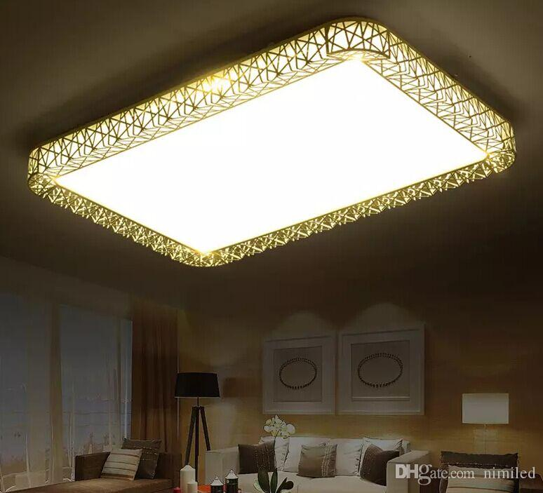 패션 버드 둥지 LED 천장 조명 led luminarias 파라 금속 사각형 펜 던 트 빛 광장 및 라운드 모양 선택 고품질 LLFA
