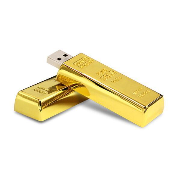 128GB usb flash drive Latest desgin Bullion Gold Bar USB 2.0 Flash Memory Drive Stick U disk 128mb 8GB 16GB 32GB 64GB Pendrive
