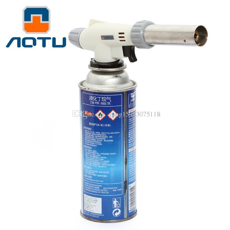 AOTU Ignition Gas Torch Flame Gun Fire Lighter Burning Welding Solder Iron Torch 204