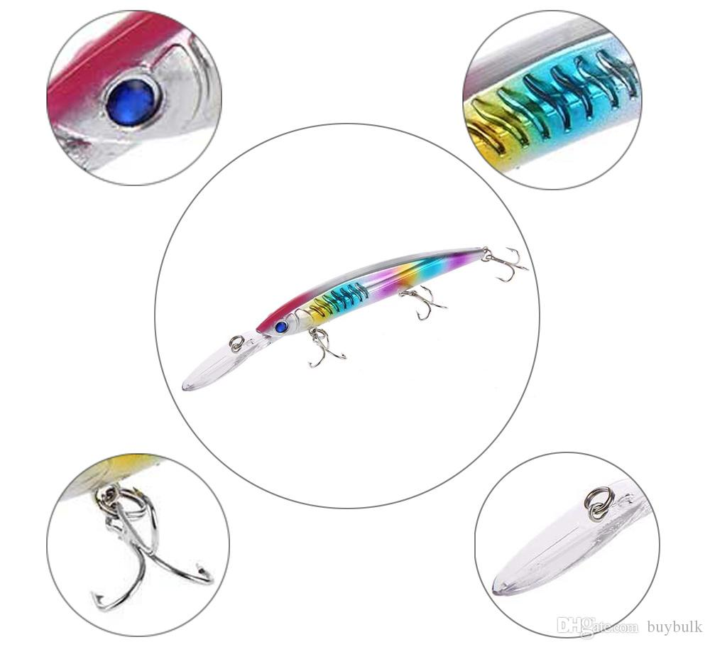 PRO BEROS Outdoor Fishing Lures Crank Bait with 3 Hook Artificial Bait strongly lure fish