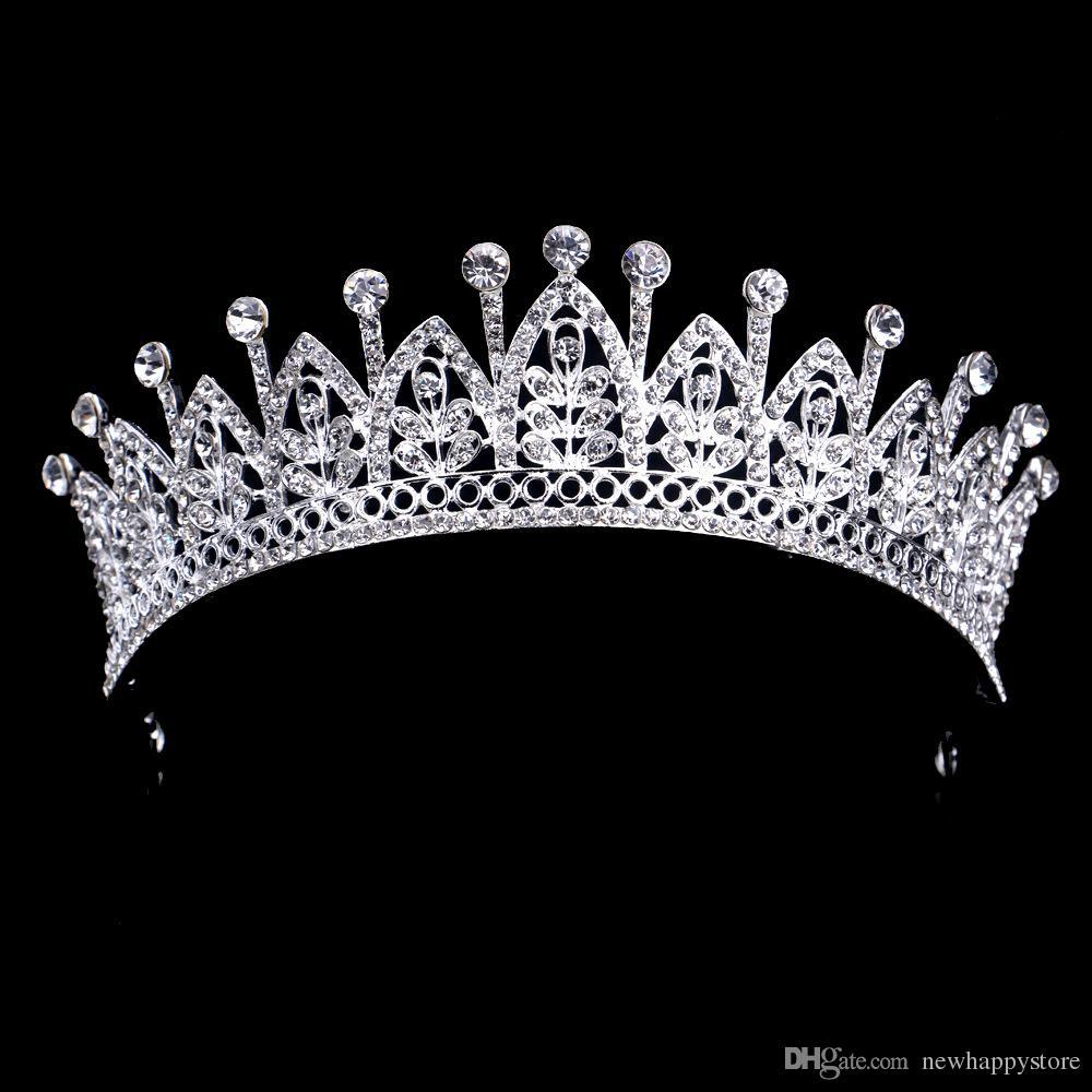 Luxus Braut Kristall Hochzeit Tiaras Crown Weiß Rot Haarschmuck Für Hochzeit Tiaras Und Kronen