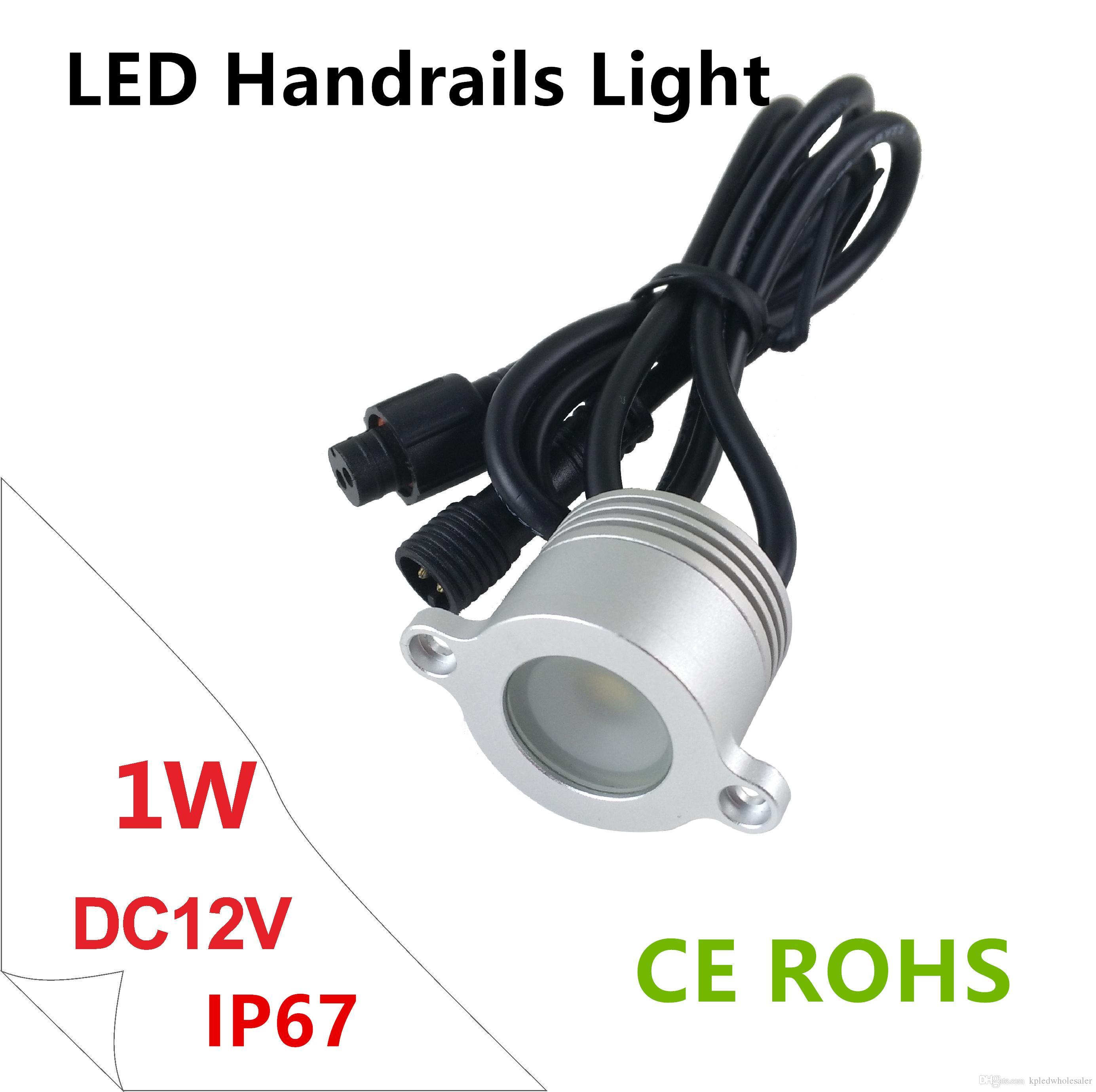1W Led Mini Railing Light, DC12V Outdoor Led Downlight Reecssed Stair Railing Light, Handrail Light IP67 Waterproof 8pcs/lot
