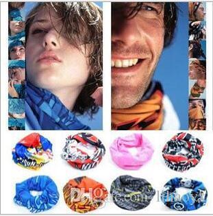 heißer Verkauf Schal Außen 205 Farben Förderung Multifunktionale Radfahren Nahtlose Bandana Magie Schals Frauen Männer Heißer Haarband Schal M026