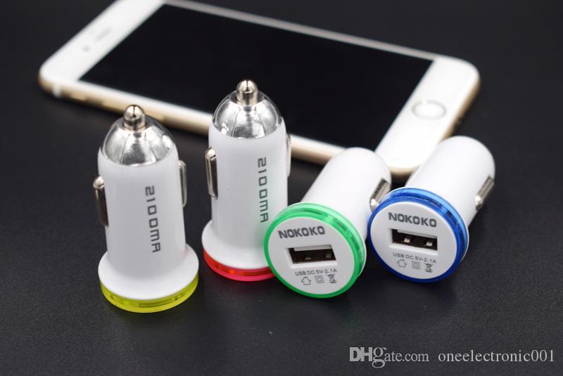 Оригинальный 5V 2.1A одиночный порт Mini USB Автомобильное зарядное устройство быстрой зарядки автомобиля зарядное устройство для iPhone 7 6 6S 5S 5 Samsung Xiaomi Huawei