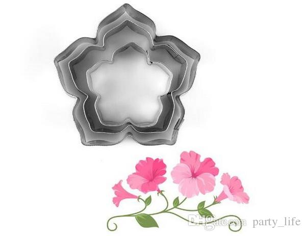 3PCS/SET Petunia Flower Petals Stainless Steel Creative Cookie Mold Die Cut Mold Fondant Cake Mold Cutting,10sets/lot
