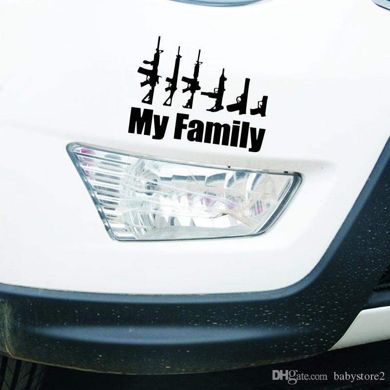 The field of military gun-lovers sticker Hot style car stickers hit MY FAMILY  car ...