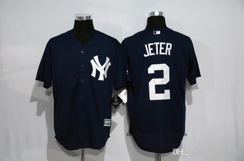 official photos 70da0 c57b6 2019 Derek Jeter New York Yankees Jersey White Gray Navy Blue Black Olive  M&N Throwback Cooperstown Majestic Cool/Flex Base Baseball Jerseys From ...