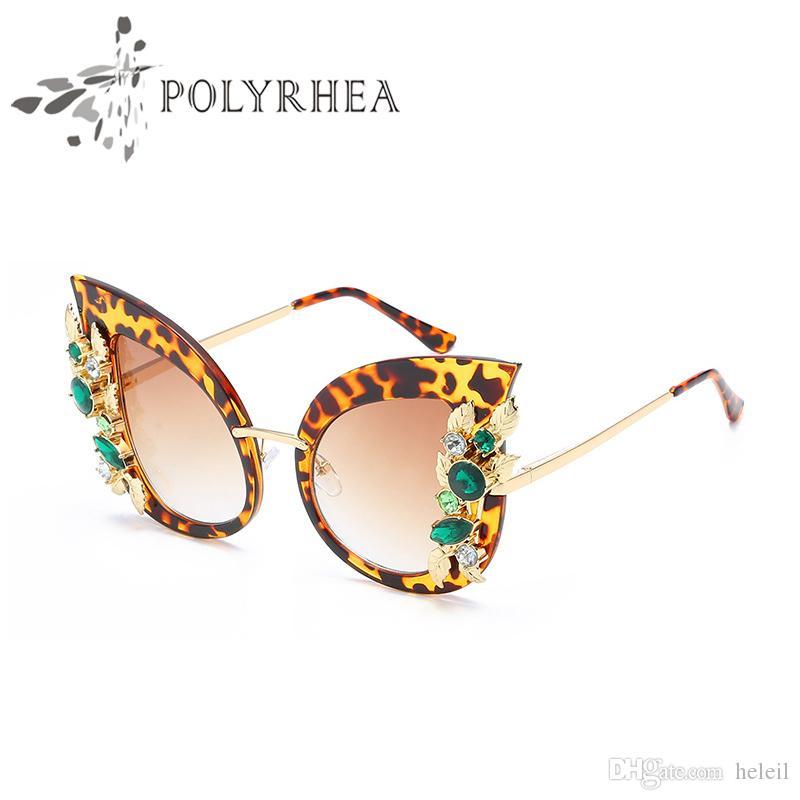 Gatto occhiali da sole occhiali da sole Donne Brand Designer Occhiali da sole Black Frame Gradiente Guida polarizzata sovradimensionata con scatola e custodia