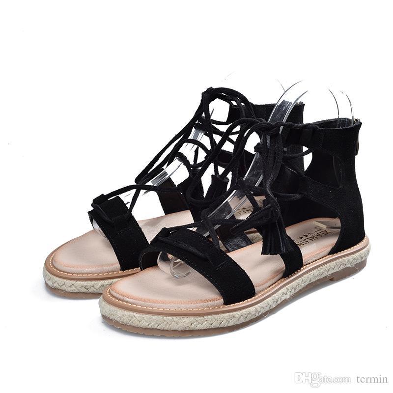 New Summer Girls Cross Strap Sandals
