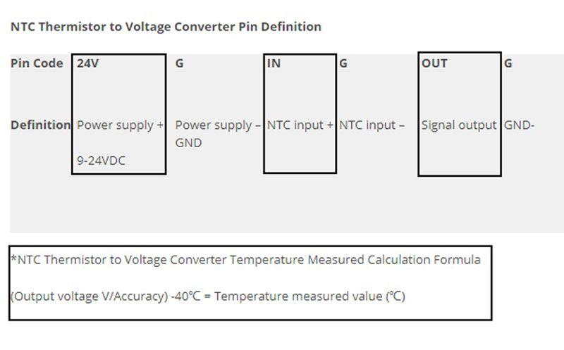 Acheter 10k NTC Thermister À 0 10V 0 5V Module De Conditionneur De Signal  Module De Transmetteur De Signal De Sonde NTC Thermister Très Fiable De