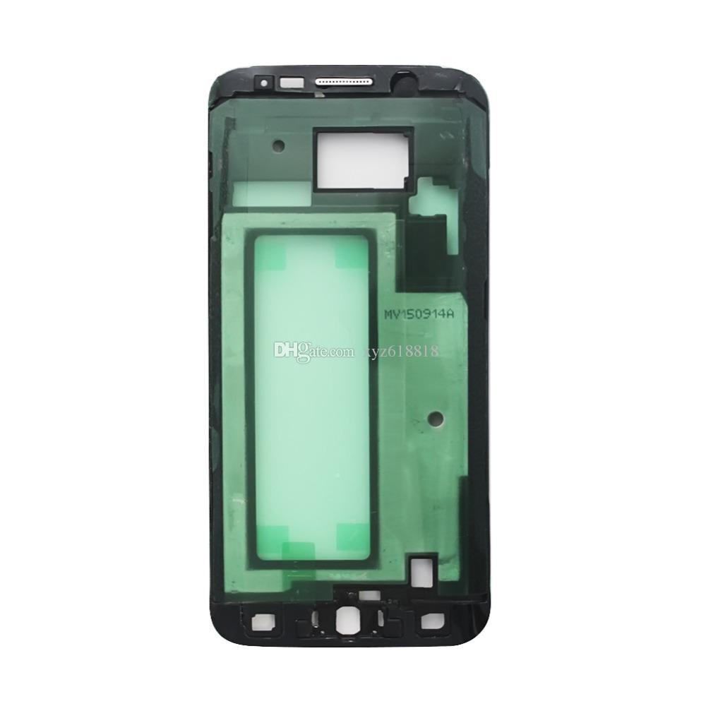 100шт / Новый фронт Корпус средней рамки лицевой панели плиты Обложка для Samsung Galaxy S6 G9200 G920F S6 Край G9250 G925F Замена Ремонт Часть